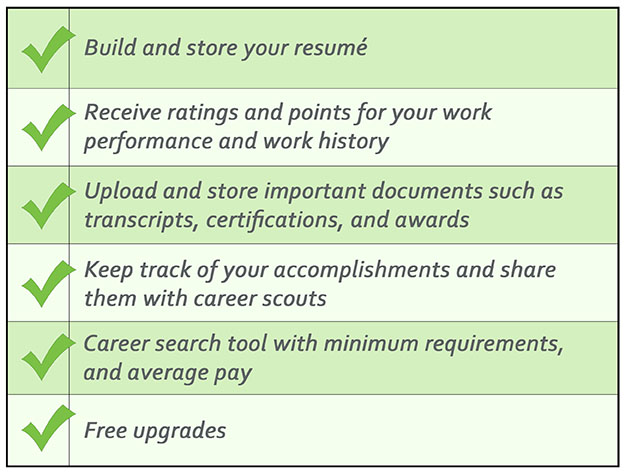 build your resume track employment history